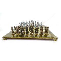 Duże eskluzywne mosiężne szachy  - Łucznicy 44x44cm, S10BBRO