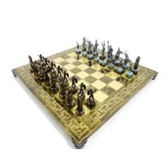 Ekskluzywne szachy mosiężne - Mitologia grecka  S4BMBRO 36x36cm