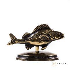 Statuetka Okoń na owalnej podstawie - mosiądz