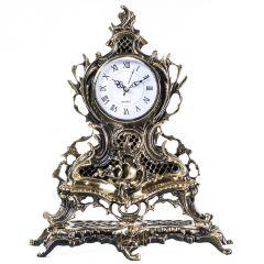Zegar kominkowy z dużą kratką Mosiądz nr. 121