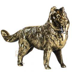 Statuetka psa - owczarka Mosiądz nr. 259