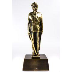 Statuetka ŻOŁNIERZ DEFILADOWY Mosiądz. Prezent dla żołnierza, prezent na przysięgę