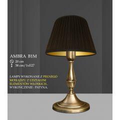 Lampa stołowa 1 płom. Ambra różne abażury B1 B1M ICARO