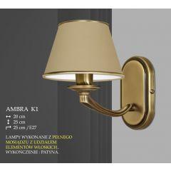Lampa kinkiet 1 płom. Ambra różne abażury K1 K1M ICARO