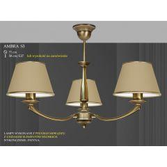 Lampa żyrandol 3 płom. Ambra różne abażury S3 S3M ICARO