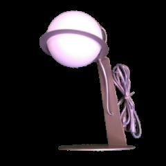 Lampa biurkowa 1 płomienna Aspro Techno-Lux srebrna satyna