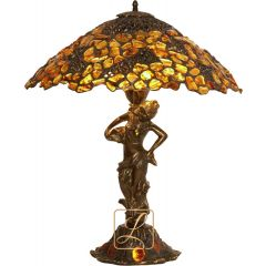 Lampa z ażurem na nimfie Bursztyn B1