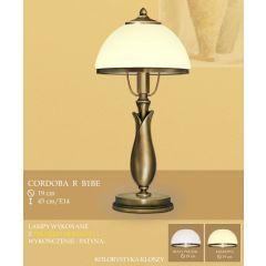 Lampa stołowa Cordoba R klosz opal Ø 20cm biały krem RB1B RB1BE ICARO