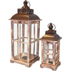 Lampion Drewniany Kpl.  74242