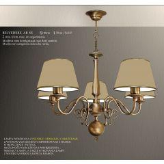 Lampa żyrandol 5 płom. Belvedere AB różne abażury S5L S5LM ICARO
