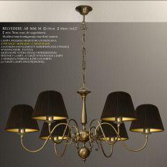 Lampa żyrandol 6 płom. Belvedere AB różne abażury S6L S6LM ICARO