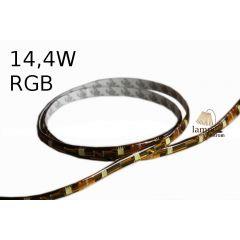 Taśma LED RGB 14,4W standard line w osłonie żelowej - rolka 5m - RGB multikolor G024-050-10-03