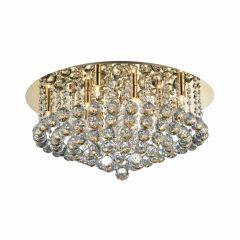 Bolla 58 Lampa plafon kryształowy 10 płom. złota Azzardo AZ3084