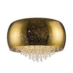 Vista Lampa plafon z kryształkami 6 płom. złota Zuma Line C0076-06K-F4GQ