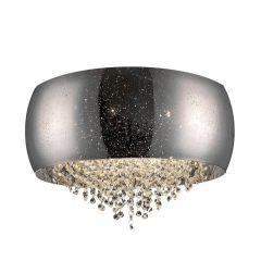 Vista Lampa plafon z kryształkami 6 płom. srebrnoszary Zuma Line C0076-06K-F4GR