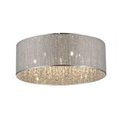 Blink Lampa plafon Ø55 cm 7 płom. chrom/kryształ Zuma Line C0173-07W-B5B3