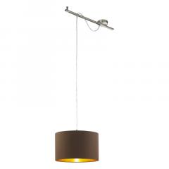 Calcena lampa wisząca EGLO 96799 brązowa satynowa