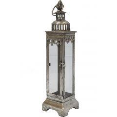 Lampion Metalowy Srebrny 64907 Art-Pol