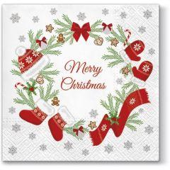 Pl Serwetki Winter Wreath 107436