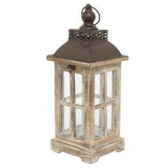 Lampion Drewniany 107252