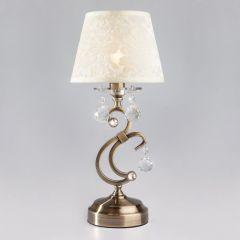 FLORENCJA Lampa stołowa z abażurem 1 płom. patyna EUROSTAR 1448/1T