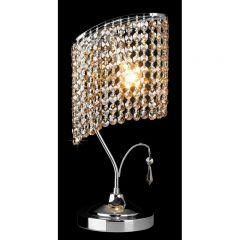 VERDE 2 Lampa stołowa kryształowa 1 płom. chrom EUROSTAR 3122/1 CH