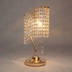 VERDE 2 Lampa stołowa kryształowa 1 płom. złoty EUROSTAR 3122/1T GD