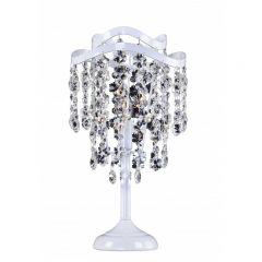 FOG Lampa stołowa kryształowa 1 płom. biała EUROSTAR 5012/1T