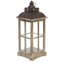 Lampion Drewniany 107253