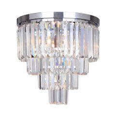Amedeo Lampa plafon kryształowy 5 płom. chrom Zuma Line FC17106/4+1-CHR