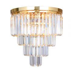 Amedeo Lampa plafon kryształowy 5 płom. złoty Zuma Line FC17106/4+1-GLD