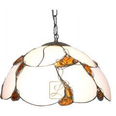 Lampa zwis 1 płomienny Bursztyn G11-W
