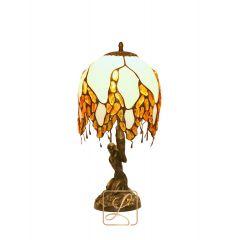 Lampa Wisteria szklana na skałce Bursztyn G1