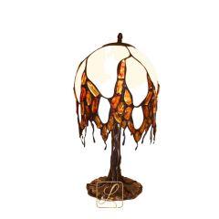 Lampa wisteria szklana na ptakach Bursztyn G2