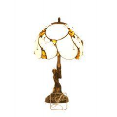 Lampa nocna na skałce Bursztyn G4