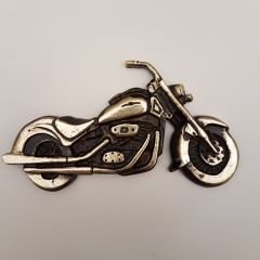 Kultowy Harley Davidson płaskorzeźba Mosiądz