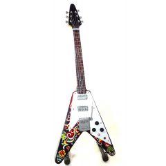 Mini gitara Jimi Hendrix - Psychodelic F. V, skala 1:4; MGT-1182