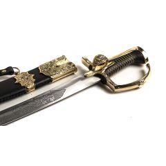 Szabla husarska z pochwą, II poł. XVII wieku, głownia kuta, hartowana. Niepowtarzalny prezent!
