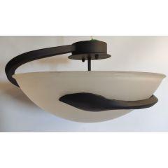 Lampa plafon 3 płomienny PERS kuty czarny E27