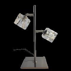 Lampa stołowa 2 płomienna kryształowa ze sciemniaczem PERS