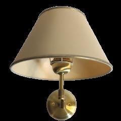 Lampa kinkiet na ruchomym ramieniu z abażurem złota-satyna KOWANÓWKO