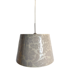 Lampa wisząca 1 płomienna z abażurem ze wzorem BRETANIA