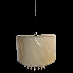 Lampa wisząca 1 płomienna z abażurem oraz kryształami ART ABAŻUR