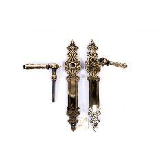 Klamki do drzwi MAROKO, piękny, orientalny wzór. Mosiądz, produkt polski