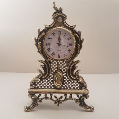 Zegar kominkowy z kratką Mosiądz nr. 117
