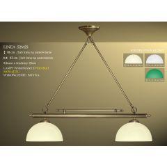 Lampa bilardowa 2pł. Linea S2M25 klosz Ø 25cm biały ecru zielony IKARO