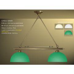 Lampa bilardowa 2pł. Linea S2M30 klosz Ø 30cm biały ecru zielony IKARO
