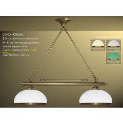 Lampa bilardowa 2pł. Linea S2RM30 klosz Ø 30cm z ramką biały połysk IKARO