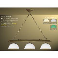 Lampa bilardowa 3pł. Linea S3RM20 klosz biały połysk Ø 19,5cm z ramką IKARO
