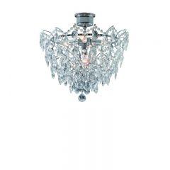 Lampa plafon kryształowy duży ROSENDAL chrom Markslojd 100511